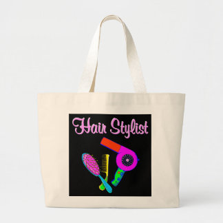 DAZZLING HAIR STYLIST TEES AND GIFTS LARGE TOTE BAG