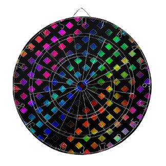 Dazzling Multi Colored Diamonds Dartboard