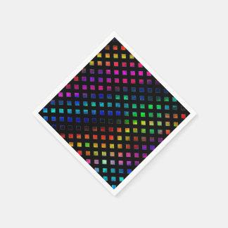 Dazzling Multi Colored Diamonds Disposable Napkin
