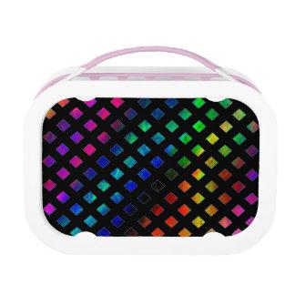 Dazzling Multi Colored Diamonds Lunch Box