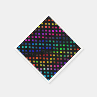 Dazzling Multi Colored Diamonds Paper Napkins