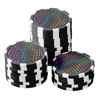 Dazzling Multi Colored Diamonds Poker Chips