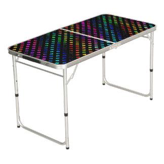 Dazzling Multi Colored Diamonds Pong Table