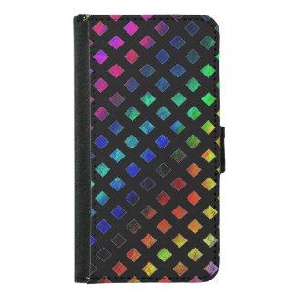 Dazzling Multi Colored Diamonds Samsung Galaxy S5 Wallet Case