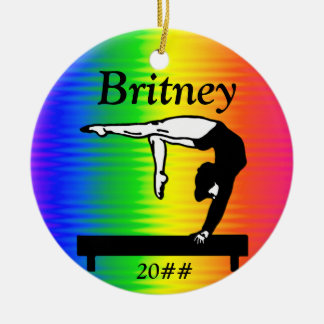 DAZZLING PERSONALIZED GYMNASTICS ORNAMENT