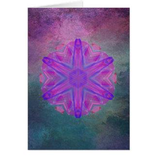 Dazzling pink kaleidoscope vertical card