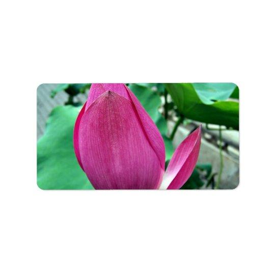 Dazzling Pink Lotus Flower Address Label