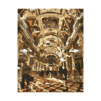 Dazzling Resort and Casino Lobby in Vegas Stretched Canvas Prints