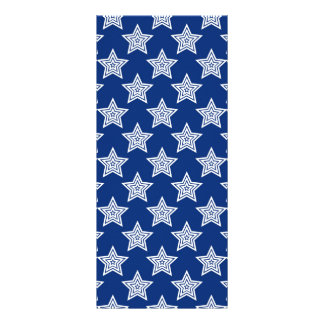 Dazzling stars on blue rack card design