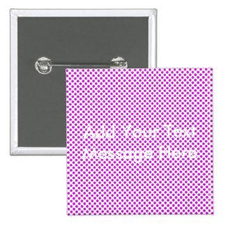 Dazzling Violet Polka Dots 15 Cm Square Badge