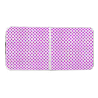 Dazzling Violet Polka Dots Beer Pong Table