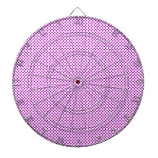 Dazzling Violet Polka Dots Dartboard