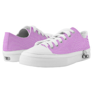 Dazzling Violet Polka Dots Low Tops