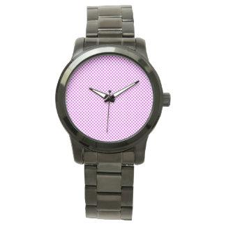 Dazzling Violet Polka Dots Watch
