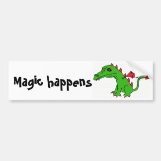 DB- Magic happens bumper sticker