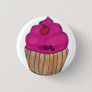 DBr Clothing Co Houston cupcake design pin