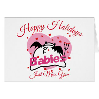 DBY Miss You Holidays Greetings Card