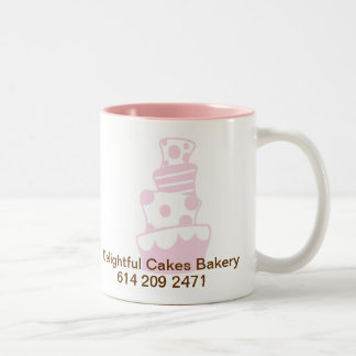 DC CAKE 20%PINK, Delightful Cakes Bakery, 614 2... Two-Tone Coffee Mug