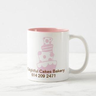 DC CAKE 20%PINK, Delightful Cakes Bakery, 614 2... Two-Tone Mug
