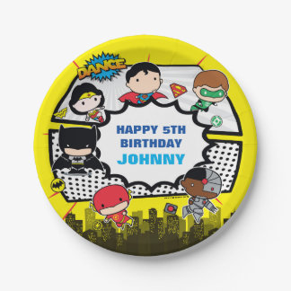 DC Comics | Justice League - Chibi Birthday 7 Inch Paper Plate