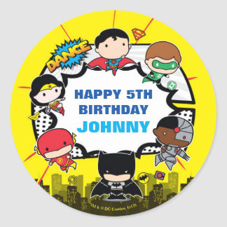 DC Comics | Justice League - Chibi Birthday Classic Round Sticker