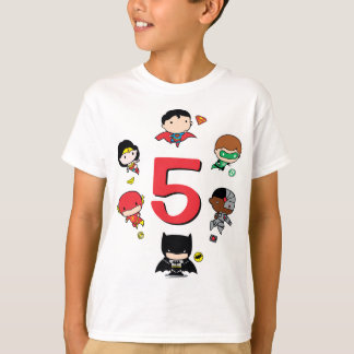 DC Comics   Justice League - Chibi Birthday T-Shirt