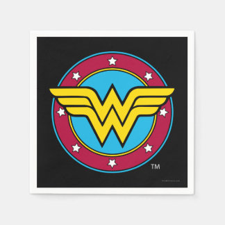 DC Comics | Wonder Woman Circle & Stars Logo Paper Serviettes
