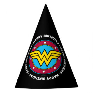 DC Comics | Wonder Woman Circle & Stars Logo Party Hat