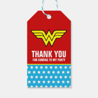 DC Comics | Wonder Woman Logo | Happy Birthday Gift Tags