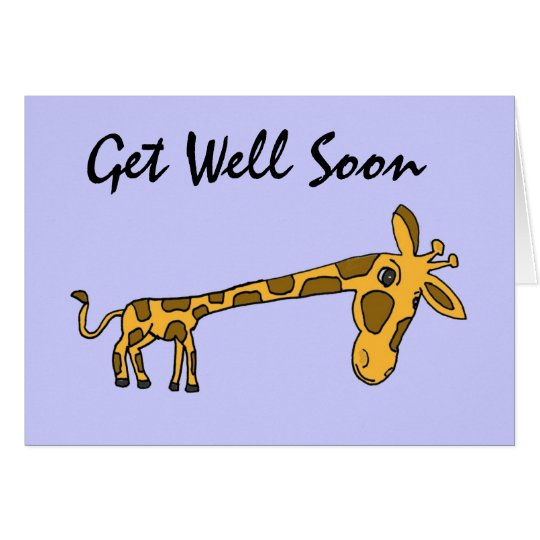 DC- Funny Giraffe Get Well Card