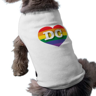DC Gay Pride Rainbow Heart - Big Love Sleeveless Dog Shirt