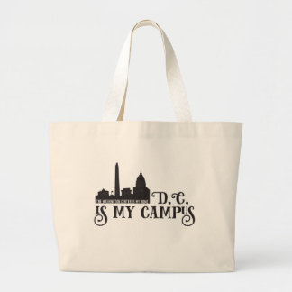DC Is My Campus Large Tote Bag