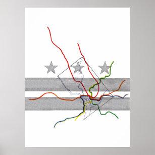 Metro Map Art Wall Decor Zazzle Com Au