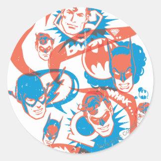 DC Originals - Logo Burst Round Sticker