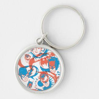 DC Originals - Logo Burst Silver-Colored Round Key Ring