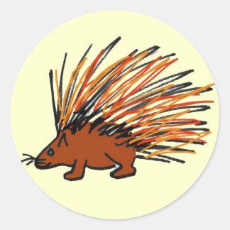 DC- Porcupine Round Stickers