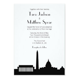 DC Skyline Wedding Invitation