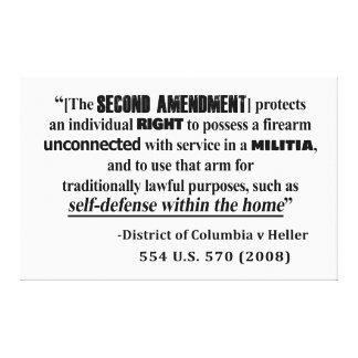 DC v Heller Second Amendment Case Law Canvas Print