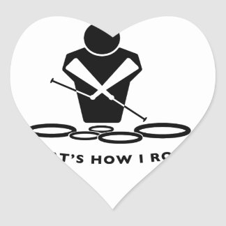 DCI QUADS - That's How I Roll Heart Sticker