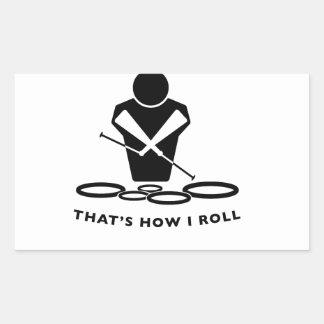 DCI QUADS - That's How I Roll Rectangular Sticker