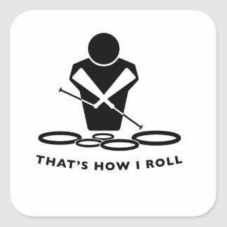 DCI QUADS - That's How I Roll Square Sticker