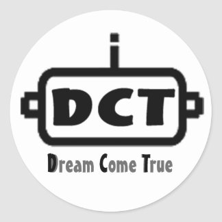 DCT logo Round Sticker