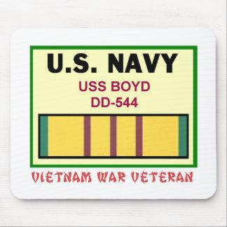 DD-544 BOYD VIETNAM WAR VET MOUSE PAD