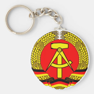DDR East German Basic Round Button Key Ring