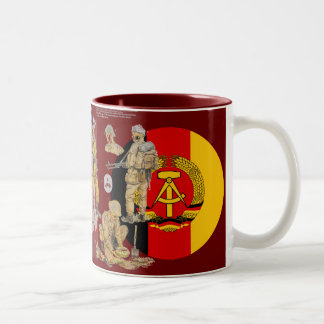 DDR East german Border Guard Two-Tone Coffee Mug