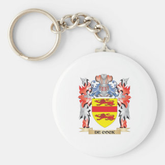 De-Cock Coat of Arms - Family Crest Key Ring