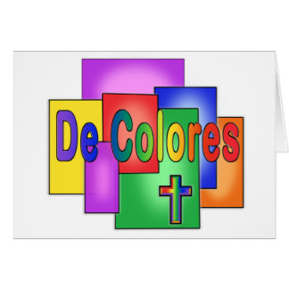 De Colores Rainbow Stained Glass Card