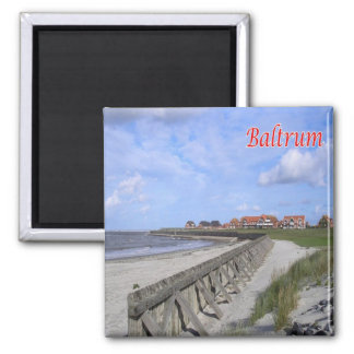 DE - Germany - Frisian islands - Baltrum - shore Square Magnet