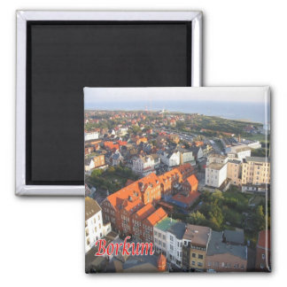 DE - Germany - Frisian islands - Borkum - shore Square Magnet