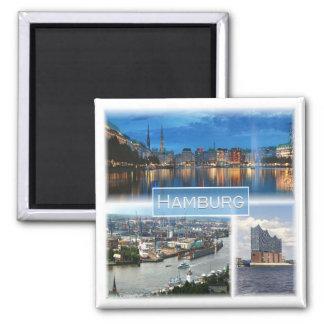 DE * Germany - Hamburg Square Magnet